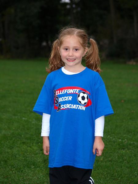 Sept 17, 2009 - Allie's U6 game<br /> Allie sporting her new soccer shirt...cute!