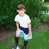 Logan getting ready for the 1st day of soccer camp...how cute is he?