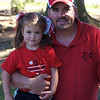 Daddy and Kennedy getting ready to cheer on big brother Dylan :)