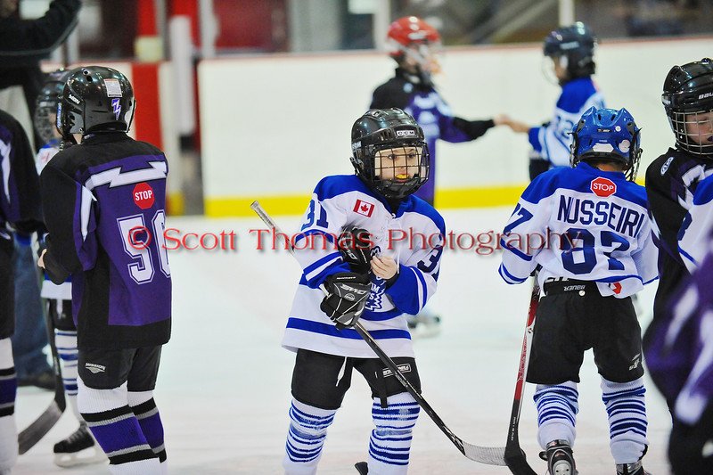 Mite Meltdown 2010. Game 11. Markham (White) vs Pioneer Valley (Purple).