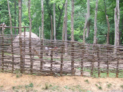 The Monacan Indian Village..The Monacan's  first known encounter with Europeans was with Captian John Smith in 1608.