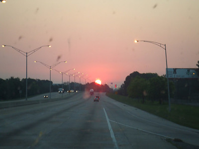 What a great day....leaving Baton Rouge watching the Sun rise.