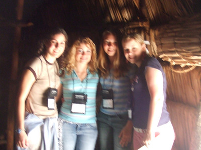 The Girls in the Hut at the village