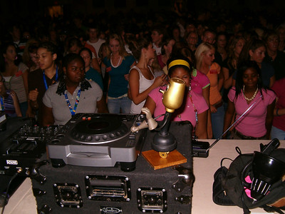 DJ Willie spins some serious tunes at the dance!