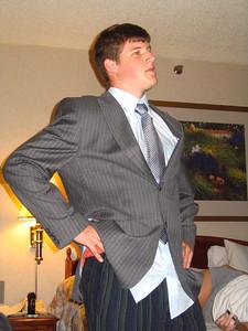 shirt... check tie..... check coat.....check pajama pants..... check?