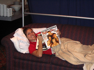 Chels chillin with her mag.