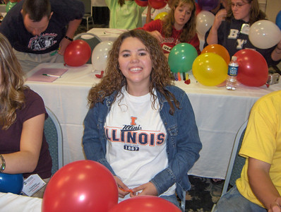 Marlene displays her Illini pride!