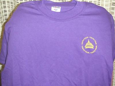 Louisiana T-shirt front (Purple & Gold)