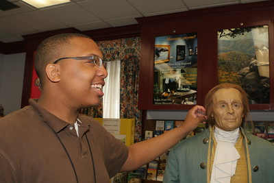 Fun with Thomas Jefferson at the Virginia Welcome Center