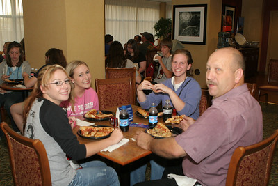 Pizza Party at Hampton Inn Knoxville, TN John Morgeson our motor coach driver is a key member of our Youth Tour leadership team.