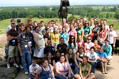 The Illinois group on Little Round Top, at Gettysburg.