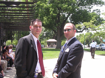 Day 4 - Sharp-looking chaperones Van O'Cain and Jeff Singletary. Or are they really Secret Service?