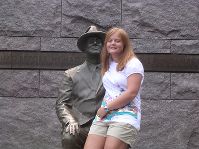 Day 5 - Brittany Edge, sponsored by Laurens, at the FDR memorial