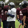 081417 SHIRLEY-- Kids perform drills during a combined pop warner football practice between the Ayer/Shirley and Leominster programs at Taylor Field in Shirley on Monday Aug. 14, 2017.  SUN PHOTO JEFF PORTER
