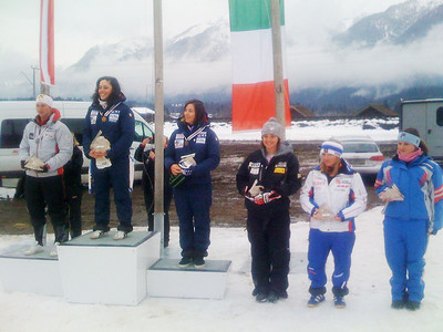 WJR Women's Combined awards ceremony - 4th place (4th from left) Julia Ford (USA). photo credit: John Hale