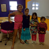 Ellie Krikorian, Valerie Livengood, Gemma Tomasino and Olivia Nersesian on the first day of school in the new classroom.