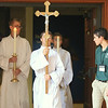 OBOC Conference 2, Day 5, Mass, college intern group photo, candles