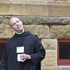 "On the first day of ""One Bread, One Cup,"" participants arrived and began community building in the St. Bede Theater. From there they went to the St. Thomas Aquinas Chapel for the opening Mass and had a portrait taken on the Archabbey steps. That evening the participants learned how to build a community of faith."