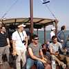 Pilgrims on the Sea of Galilee.