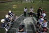 Team Captains and the Coin Toss - Sunday, October 23, 2011 - Licking Heights (Senior White) Hornets at Granville (Navy) Blue Aces - 5th and 6th Grades