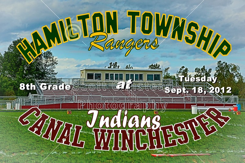 Tuesday, September 18, 2012 - Hamilton Township Rangers at Canal Winchester Indians - 8th Grade