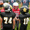 Team Captains and the Coin Toss - Watkins Memorial Warriors at Utica Redskins - Saturday, August 25, 2018