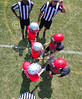 Team Captains and the Coin Toss - Utica Redskins at Johnstown Johnnies - Grades 3 & 4 - Saturday, August 26, 2017