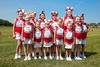 Utica Cheerleaders - Utica Redskins at Johnstown Johnnies - Grades 3 & 4 - Saturday, August 26, 2017