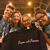 "WELCA @ 2018 ELCA Youth Gathering | ""Person not possession"" was the message on this group's anti-human trafficking t-shirt."