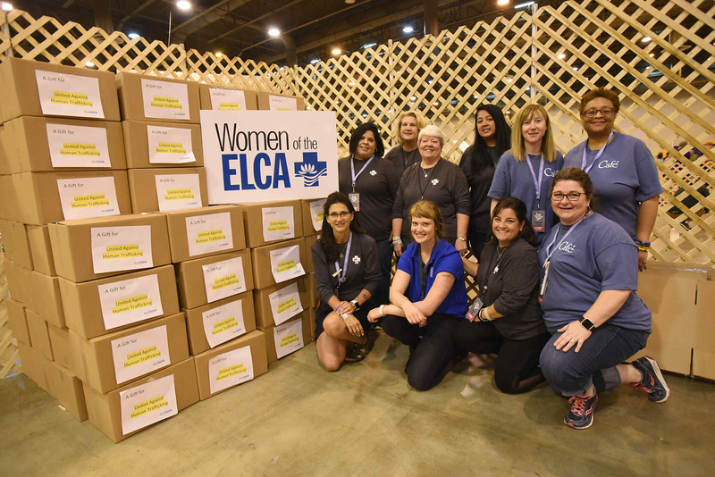 WELCA @ 2018 ELCA Youth Gathering |  After three days, youth participants and visitors to our exhibit helped assemble 2,005 hygiene bags.