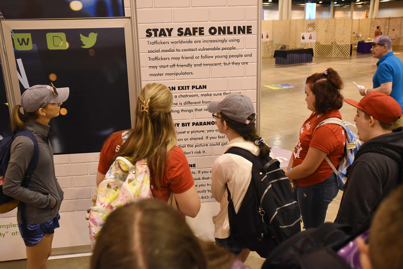 "WELCA @ 2018 ELCA Youth Gathering |  Human traffickers may follow or friend vulnerable young people using social media. More on-line safety tips can be found at: <a href=""http://love146.org"">http://love146.org</a>."