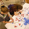 "WELCA @ 2018 ELCA Youth Gathering |  Writing messages of blessings and hope at the ""Compassion station."""