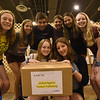 WELCA @ 2018 ELCA Youth Gathering | This group poses with the last box that completes 2,005 hygiene kits that will be donated to United Against Human Trafficking.<br /> <br /> Front row: Alexandra Kolodziejczyk and Samantha Ekhart. <br /> Back row:  Isabella Markel, Amanda Niemeler, Raymond Scribano, Leah Pengiel, Sophia Scribano and Caroline Huttner.