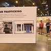 WELCA @ 2018 ELCA Youth Gathering | This is one side of a triangle structure that featured stats about human trafficking and ways young people can stay safe on-line.