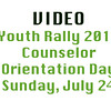 Youth Rally 2016 Sunday Counselor Orientation