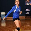 TCA-Addison defeats district rival Ursuline in three games in a volleyball game at TCA on October 11, 2011.