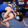 TCA-Addison Trojans battle the Argyle Liberty Christian Warriors in a wrestling duel Thursday, Jan. 12, 2012 at Trinity Christian Academy in Addison, Texas.