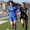 TCA-Addison varsity girls soccer team loses their final regular season game to John Paul II High School 1-0 Thursday, Jan. 26, 2012 at Tom Landry Stadium in Addison, Texas.