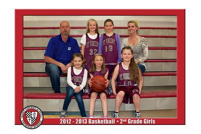 12-13 St. Vincent Basketball - 2nd Grade Girls