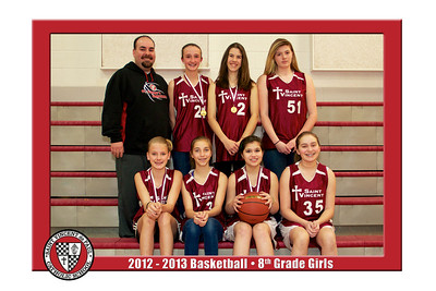 12-13 St. Vincent Basketball - 8th Grade Girls