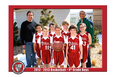 12-13 St. Vincent Basketball - 4th Grade Boys Red
