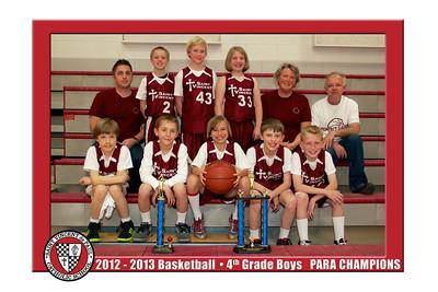 12-13 St. Vincent Basketball - 4th Grade Boys Gold