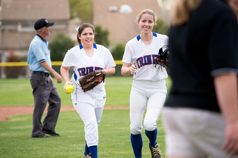 The Trinity Christian Academy varsity softball team competes against Bishop Lynch on Monday, March 30, 2015 at the TCA softball field in Addison, Texas.