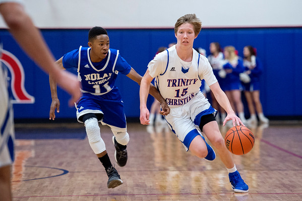2017-01-13 TCA-Addison - FW Nolan Varsity Boys Basketball