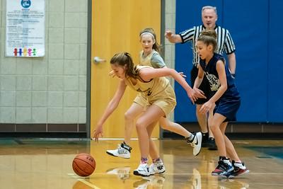 Draper, UT - Saturday January 18, 2020: CYO 19-20 Basketball. 6th Grade Girls - St. Ambrose. ©2020 Bryan Byerly