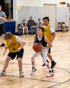 Salt Lake City, UT - Saturday February 01, 2020: CYO 19-20 Basketball. 5th Grade Boys - St. John. ©2020 Bryan Byerly