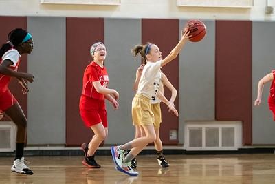 Salt Lake City, UT - Saturday February 01, 2020: CYO 19-20 Basketball. 6th Grade Girls - St. Ambrose. ©2020 Bryan Byerly