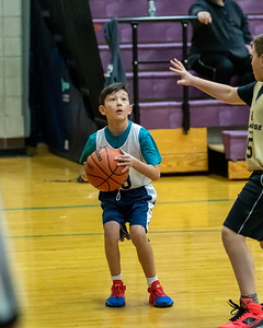 Draper, UT - Saturday February 08, 2020: CYO 19-20 Basketball. 5th Grade Boys - St. John's. ©2020 Bryan Byerly