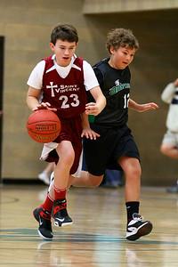 7th Grade Boys • St  Vincent's vs St  Ambrose 12-8-12   9