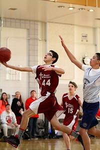 8th Grade Boys • Lourdes Salt Lake vs St  Vincent 1-5-2013   15